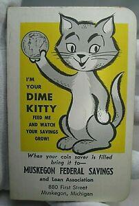 Vintage BANK DIME SAVING Book. Full w/ 30 Silver Dimes. Muskegon Federal , MI