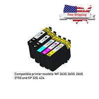 Remanufactured 5pk Ink Cartridge for Epson WorkForce 220 WF-2630 WF-2660 WF-2750