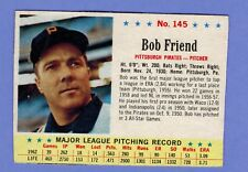 1963 POST CEREAL CARD # 145 BOB FRIEND PITTSBURGH PIRATES..........2265