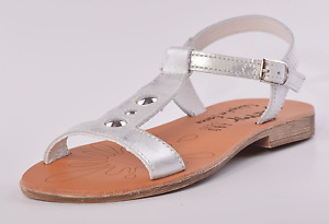 Bellamy Girls Estelle Silver Leather Buckle Sandals UK 13 EU 32 US 13.5 RRP £49
