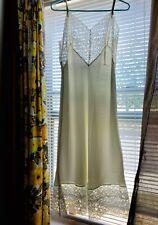 New listing Vtg.1950'S Rosalyn White Very Lacey, Sz 38 Tall Full Slip, Nylon Sleek Acetate