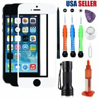 For Apple iPhone 5 5S SE Front Screen Replacement Glass Lens Repair Kit UV Glue