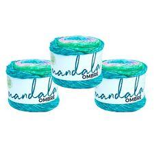 Lion Brand Yarn 551-209 Mandala Ombre Yarn, Balance (Pack of 3 cakes)
