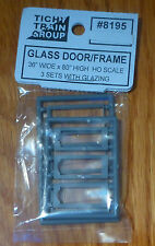 Tichy Train Group HO #8195 Storefront Glass Door w/Separate Frame pkg(3) --