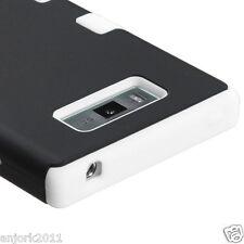 LG Splendor Venice US730 T Armor Hybrid Hard Case Skin Cover Black White