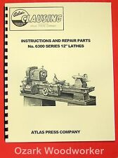 "CLAUSING/Atlas 12"" 6300 Series Lathe Operating & Parts Manual 0156"