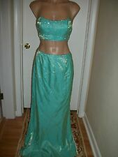 MISSES LADIES SIZE 6 DRESS EVENING GOWN FORMAL BRIDESMAID PROM HOMECOMING BLING