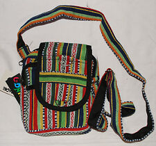 BNWT Gringo Woven Cotton Passport Bag - Hippy Ethnic Fair Trade Festival Boho