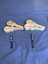 2 Elvis Presley Collectors Guitar Pen in a Wood Guitar Case - E.P.E. Official