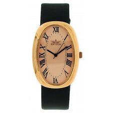 5c45da5075cc Softech Men s Rose Gold Bezel Black PU Leather Strap Wrist Watch Analog  Quartz