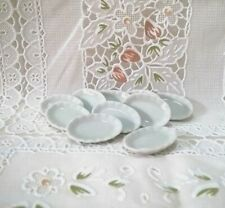 30 White Oval Plate Dish Dinner Dollhouse Miniatures Kitchenware Tableware Decor