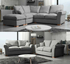 Fabric Grey Sofas, Armchairs & Suites