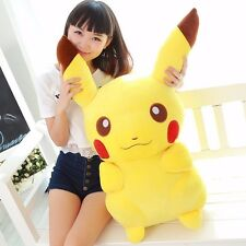 Stuffed Pikachu Plush Toy Pokemon Anime Kids Pillow 45cm (17.7 in) Large Peluche