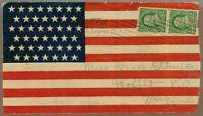 Used Patriotic Postal Cover, 45 Star Flag, Postmarked 1898