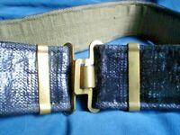 A8 OLD S/H ARMY AUSTRALIAN DRESS BELT HAS WEAR WITH BRASS BUCKLES ORIGINAL 100CM