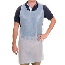 "PLASTIC DISPOSABLE APRONS FULL SIZE EMBOSSED BIB 24"" x 42""( 100 APRONS )PRIORITY"