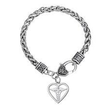 Heart Medical Alert Chain Bracelet Diabetic Insulin Dependent Women Snake Wings