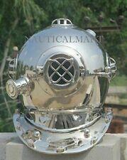 Antique US Navy Vintage Dive Helmet Mark V Diving Divers Nickel Gift Helmet DH