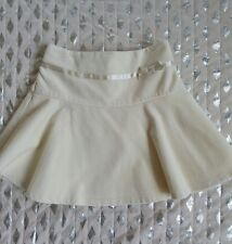 The Childrens Place girls cream off white velvet flare skirt sz 4