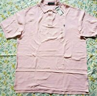 Big & Tall New Mens Polo Ralph Lauren Pink Solid Polo Shirt 2XLT
