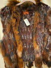 Patricia Luca knitted genuine rabbit fur vest size 1X