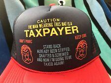 NOS Vtg TAXPAYER SHAFTED SCREWED Funny Novelty Trucker Mesh/Foam Snapback Hat