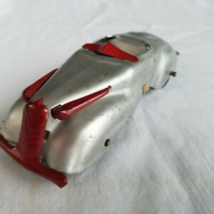 """marx roadster car for auto carrier hauler transport wyandotte silver/red 6"""""""