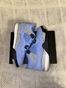 Nike Air Jordan 4 Retro University Blue Baby - Toddlers Size 10C (BQ7670-400)