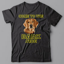 GOLDEN RETRIEVER dog T-shirt COME TO THE BARK SIDE - dark side we have cookies