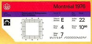RARE 1976 MONTREAL OLYMPICS TICKET STUB-WRESTLING