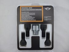 GENUINE OEM Mini/BMW Cooper Set of 4 Wheel Bolt Locks with Coded Key 36136792850
