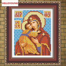 DIY 5D Rhinestone Embroidery Mosaic Russia Human Virgin & Child Diamond Painting