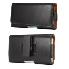 Black PU Leather Case Belt Holster for Samsung Galaxy S9 Plus /S8 Active / LG G7
