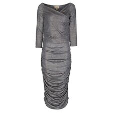 NEW VINTAGE 50'S STYLE CONSTANCE GOLD/SILVER PENCIL/WIGGLE PARTY DRESS