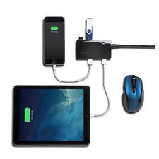Kensington USB 3.0 7-Port Hub and Charger Black K33980EU