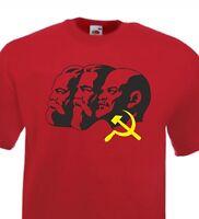 COMMUNIST LEADERS LENIN, MARX & ENGELS T-SHIRT