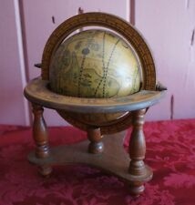 VTG OLD WORLD STYLE TABLE TOP GLOBE: MADE IN JAPAN