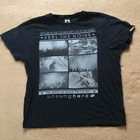 Unsung Hero Lost In Crowd Feel The Noise 100% Cotton Festival t shirt