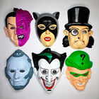 Vintage Batman Villain Halloween Mask Set Penguin Joker Riddler Catwoman Two Fac
