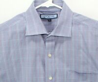 Tommy Hilfiger ITHACA Men's Button Down Long Sleeve Shirt Blue Red Striped Large