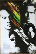 THE FAST AND THE FURIOUS MOVIE POSTER 2 Sided ORIGINAL INTL 27x40 VIN DIESEL