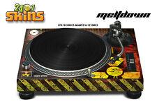 Skin Decal Sticker Wrap for Technics Quartz SL Turntable Pro Audio Mixer MLTDWN