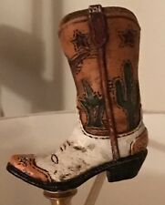 Cowboy Boot Finial Handmade One of a Kind