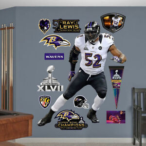 "RAY LEWIS Super Bowl XLVII 5'4"" x 5'10"" Ravens Legend REAL BIG FATHEAD + Extras"