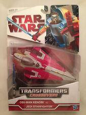 Transformers Star Wars CrossOvers Obi-Wan Kenobi Jedi StarFighter NEW MIB