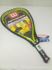 "Wilson Xpress Racquetball R0070 Racquet 3 7/8"" Grip Titanium New Sealed w/Cover"