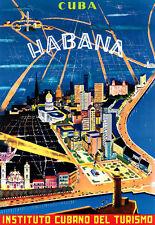 Art Ad  Cuba Havana   Travel  Poster Print