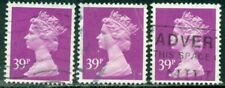 GREAT BRITAIN SG-X991, SCOTT # MH-156 MACHIN, USED, 3 STAMPS, GREAT PRICE!