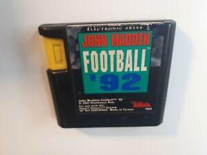 JOHN MADDEN FOOTBALL '92 SEGA GENESIS - CANADA FAST FREE SHIPPING !!
