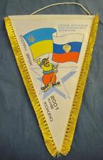 UKRAINE - RUSSIA 2001 OLDTIMERS FRIENDLY MATCH 2001 KIEV BIG PENNANT 42x29CM OLD